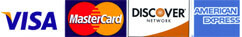 Gamble Home accepts Visa, Mastercard, Discover and American Express